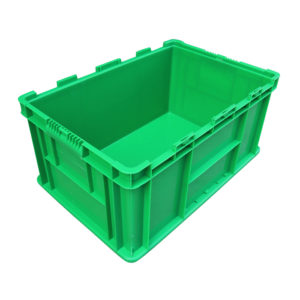 Euro Containers With Hinged Lid Foldable Plastic Storage